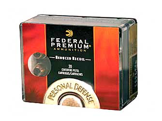 Federal Premium Personal Defense (LR), 40 S&W, 135 Grain,Hydra-Shok Jacketed Hollow Point, Low Recoil, 20 Round Box PD40HS4H