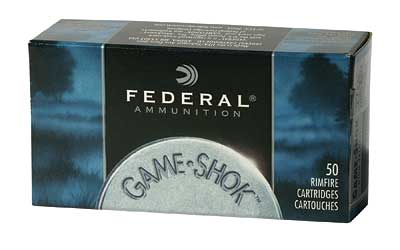 Federal GameShok, 22WMR, 50 Grain, Jacketed Hollow Point, 50 Round Box 757