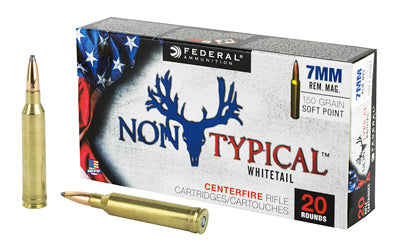 Federal Non Typical, 7MM Rem, 150Gr, Soft Point, 20 Round Box 7RDT150