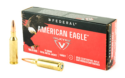 Federal American Eagle, 224 Valkyrie, 75 Grain, Total Metal Jacket, 20 Round Box AE224VLK1