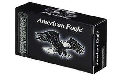 Federal American Eagle, Suppressor Ammunition, 22LR, 45 Grain, Copper Plated Lead Round Nose, 50 Round Box AE22SUP1