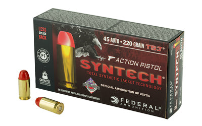 Federal Syntech Action Pistol, 45 ACP, 220Gr, Total Synthetic Jacket, 50 Round Box AE45SJAP1