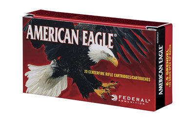 Federal American Eagle, 6.5 GRENDEL, 120 Grain, Open Tip Match, 20 Round Box AE65GDL1