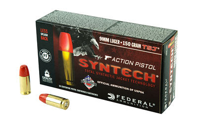 Federal Syntech Action Pistol, 9MM, 150Gr, Total Synthetic Jacket, 50 Round Box AE9SJAP1