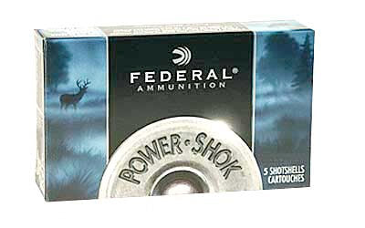 "Federal PowerShok Ammunition, 10Ga 3.5"", 1.75oz, Rifled Slug Hollow Point,5 Round Box F103FRS"