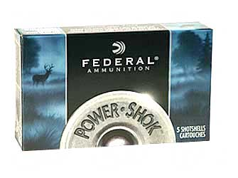 "Federal PowerShok, 12 Gauge, 2.75"", 1oz., Rifled Hollow Point Slug, 5 Round Box F127RS"