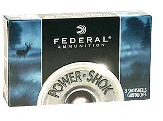 "Federal PowerShok, 16 Gauge, 2.75"", Max Dram, .80oz, Rifled Slug, Hollow Point,5 Round Box F164RS"