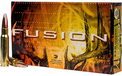 Federal Fusion, 22-250, 55 Grain, Soft Point, 20 Round Box F22250FS1