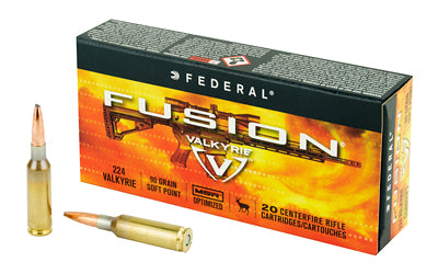 Federal Fusion, 224 Valkyrie, 90 Grain, Boat tail, 20 Round Box F224VLKMSR1