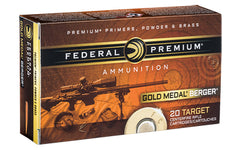 Federal Gold Medal Berger, 6.5 CREEDMOOR, 130 Grain, Berger, 20 Rounds Per Box GM65CRDBH130