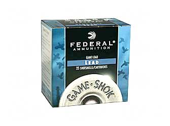 "Federal Game Load, 12 Gauge, 2.75"", #6, 3.25 Dram, 1oz, Shotshell, 25 Round Box H1216"
