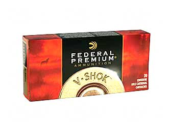 Federal Vital-Shok, 260REM, 140 Grain, Boat Tail, Soft Point, 20 Round Box P260A