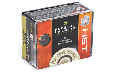 Federal Premium, 40S&W, 180 Grain, Jacketed Hollow Point, 20 Round Box P40HST1S