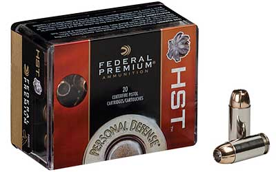 Federal Premium, 45ACP, 230 Grain, Jacketed Hollow Point, 20 Round Box P45HST2S