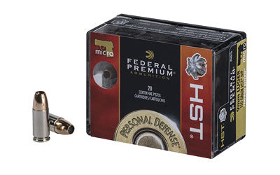 Federal Premium, 9MM, 150 Grain, Jacketed Hollow Point, 20 Round Box P9HST5S