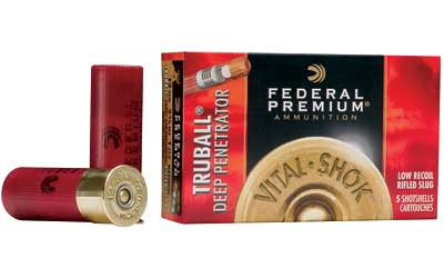 "Federal Premium, 12 Gauge, 2.75"", 1oz, TruBall, 5 Round Box PB127DPRS"