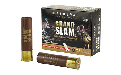 "Federal Grand Slam, 10 Gauge, 3.5"", #5 Shot, 2oz, 10 Round Box PFCX101F 5"
