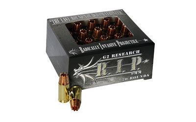 G2 Research RIP, 9MM, 92 Grain, Lead Free Copper, 20 Round Box 00009