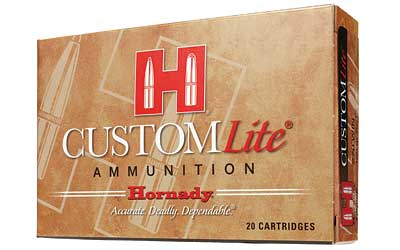 Hornady Custom Lite, 308 Win, 125 Grain, SST, Low Recoil, 20 Round Box 80866