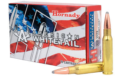 Hornady American Whitetail, 308WIN, 150 Grain, Soft Point, 20 Round Box 8090