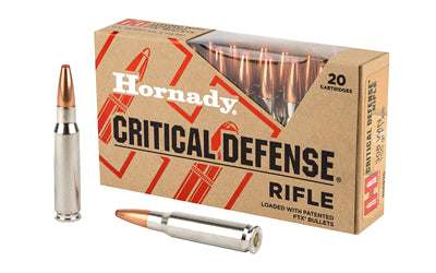Hornady Critical Defense Rifle, 308 Winchester, 155 Grain, FlexTip, 20 Round Box 80920