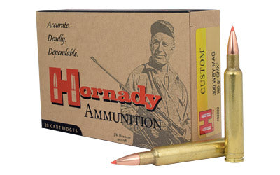 Hornady Custom, 300 Weatherby, 165 Grain, GMX, 20 Round Box 82220