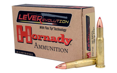 Hornady LeverEvolution, 32 Special, 165 Grain, FlexTip, 20 Round Box 82732