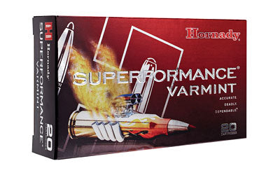 Hornady Superformance Varmint, 204 Ruger, 24 Grain, NTX, Lead Free, 20 Round Box 83209