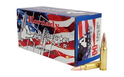 Hornady American Gunner, 6.8SPC, 110 Grain, Boat tail Hollow Point, 50 Round Box 83467