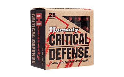 Hornady Critical Defense, 9MM, 115 Grain, Hollow Point, 25 Round Box 90250