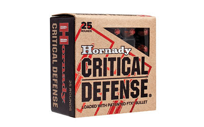 Hornady Critical Defense, 357MAG, 125 Grain, Hollow Point, 25 Round Box 90500