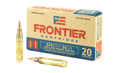 Frontier Cartridge Lake City, 223 Rem, 55 Grain, Hollow Point Match, 20 Round Box FR140