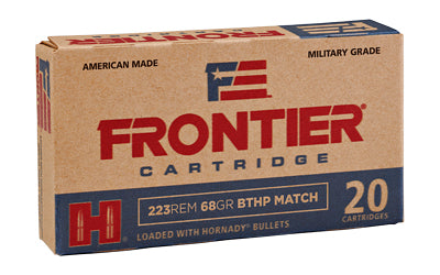 Frontier Cartridge Lake City, 223 Rem, 68 Grain, Boat Tail Hollow Point Match, 20 Round Box FR160