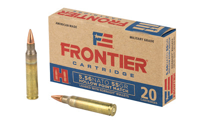 Frontier Cartridge Lake City, 556 NATO, 55 Grain, Hollow Point Match, 20 Round Box FR240