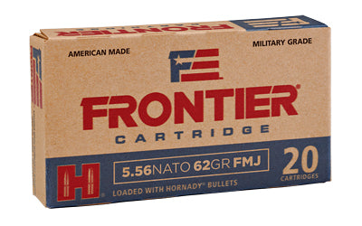 Frontier Cartridge Lake City, 556 NATO, 62 Grain, Full Metal Jacket, 20 Round Box FR260