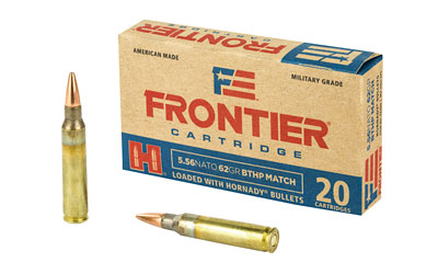 Frontier Cartridge Lake City, 556 NATO, 62 Grain, Boat Tail Hollow Point Match, 20 Round Bo FR300