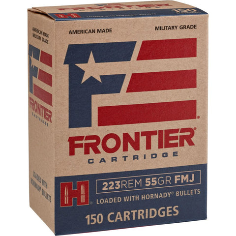 Frontier Cartridge FR1015 Frontier  223 Remington 55 GR Full Metal Jacket 150 Bx/ 8 Cs - 150 Rounds