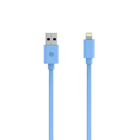 Incase 3ft Sync & Charge Flat Cable for iPhone 5, 5s, 6, & 6 Plus, iPad and iPod w/Lightning Connector - Blue
