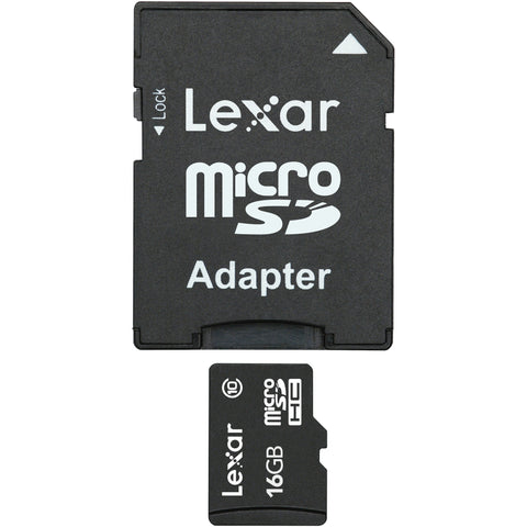 Lexar 16GB microSDHC Class 10 Card With Adapter