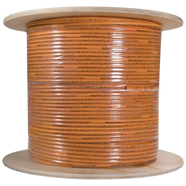 Monster Cable Cp Cat5E-Org Ez1000 Cat-5E Cable, 1,000 Ft (Orange)