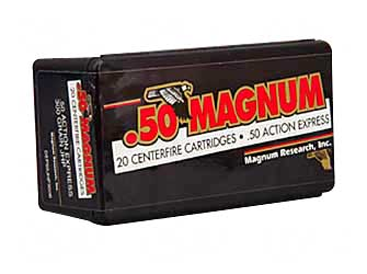 Magnum Research Blount, 50 Action Express, 300 Grain, Jacketed Hollow Point, 20 Round Box DEP50JHP300B