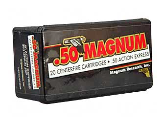 Magnum Research Blount, 50 Action Express, 350 Grain, Jacketed Soft Point, 20 Round Box DEP50JSP350B