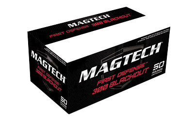 Magtech First Defense, 300 Blackout, 115 Grain, Hollow Point Flat Base, 50 Round Box 300BLKA