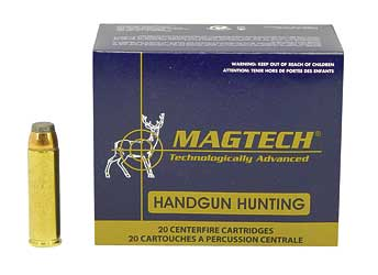 Magtech Sport Shooting, 500 S&W, 325 Grain, Semi Jacketed Soft Point, 20 Round Box 500B