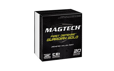 Magtech Guardian Gold, 38 Special, 125 Grain, Jacketed Hollow Point, +P, 20 Round Box GG38A