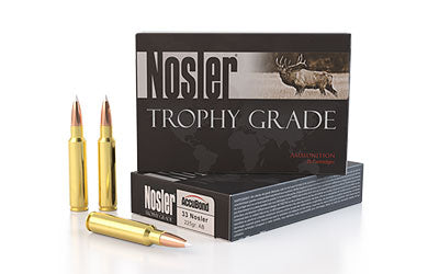 Nosler Trophy Ammunition, 33 225 Grain, AccuBond, 20 Round Box 60098