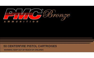 PMC Bronze 380ACP, 90 Grain Full Metal Jacket, 50 Round Box 380A