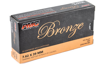 PMC Bronze, 762X39, 123 Grain, Full Metal Jacket, 20 Round Box 7.62A