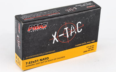 PMC XTAC, 762X51 NATO, 147 Grain, Full Metal Jacket, 20 Round Box 7.62X