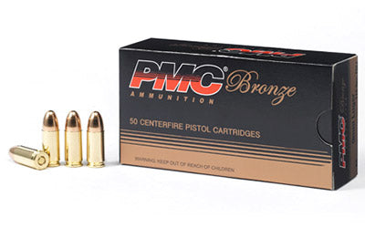 PMC Bronze 9MM, 115 Grain, Full Metal Jacket, 50 Round Box 9A